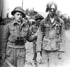 Hitler Youth soldier captured by Canadian soldiers, Caen, France, 9 Aug 1944 Source National Archives of Canada