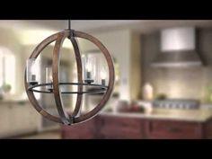 "Kichler 43185AUB Auburn Grand Bank 4 Light 20"" Wide Chandelier with Seedy Glass Shades - LightingDirect.com"