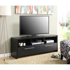 Convenience Concepts Newport Marbella TV Stand (Black)