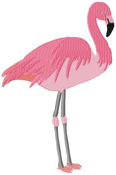 EMBROIDERY FLAMINGO design Machine Embroidery by EmbroideryBrat