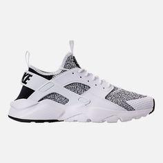 631b31174a5c Right view of Men s Nike Air Huarache Run Ultra SE Casual Shoes in  Black White