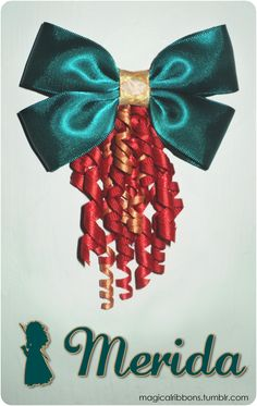 Magical Ribbons- Merida.  i want to see Brave like now.