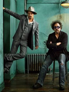 Tim Burton and Johnny Depp. there is just somethin about this picture. ;)
