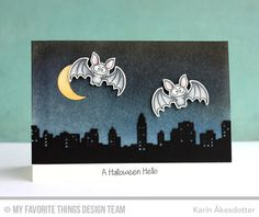 Witch Way Is the Candy?, Skyline Border Die-namics - Karin Åkesdotter #mftstamps