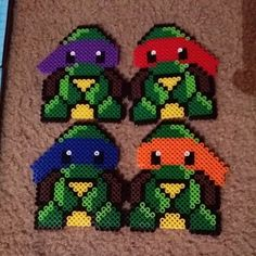TMNT perler beads by dezarroyo