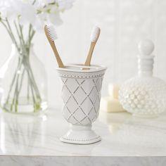 Eva Porcelain Toothbrush Holder