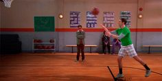 """… and when Sheldon tried to play basketball. 