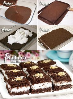 Portioned Mole Cake Recipe, How To . - Womanly Recipes - Delicious, Practical and Delicious Food Recipes Site - Portion Mole Cake Recipe - Pie Recipes, Dessert Recipes, Pasta Cake, Flaky Pastry, Mince Pies, Turkish Recipes, Food And Drink, Yummy Food, Sweets