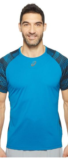 ASICS Tennis Club Challenger GPX Top (Thunder Blue) Men's T Shirt - ASICS, Tennis Club Challenger GPX Top, 141146-451, Apparel Top Shirt, T Shirt, Top, Apparel, Clothes Clothing, Gift, - Street Fashion And Style Ideas