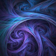 """EDIT: I forgot to say that Ana is my granddaughter and she saw this on my monitor and said, """"Ooooo, Nonnie, that's beautiful! A Rose for Ana Art Fractal, Fractal Design, World Of Color, Shades Of Purple, Optical Illusions, Oeuvre D'art, Sacred Geometry, Les Oeuvres, Abstract Art"""