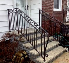 Wrought Iron Hand Rail with scrolls