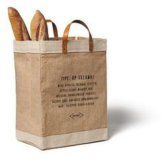 Best reusable shopping bag I have seen lately. Love the leather handles.