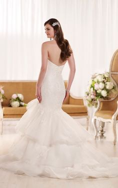 D1974 Fit and Flare Designer Wedding Dress by Essense of Australia