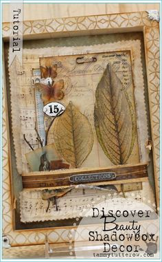 Tammy Tutterow Tutorial | Discover Beauty Shadow Box featuring NEW Tim Holtz Vellum