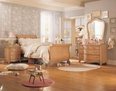 Accessories U0026 Furniture, Cool Amazing Blair Waldorf Bedroom Decor With  Gorgeous Bright Wood Bed Frame