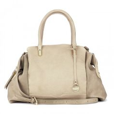 Shay textured vegan satchel - Natural