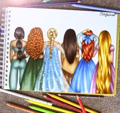 It's a Disney World - Princess - Jasmin, Merida, Repunzel