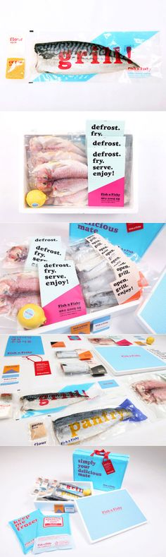 Fish N Fishy. Who wants fish for lunch #identity #packaging #branding PD