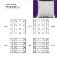 Artesanatos patchwork quilt almofadas bordados capitone tutoriais