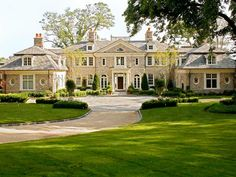 Stately stone manor by Architects Kean Williams Giambertone. On the Sound in Oyster Bay.
