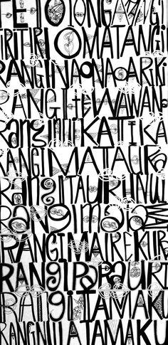 Calligraphy Types, Maori Designs, Nz Art, Maori Art, Types Of Art, Lettering, Typography, Amazing Art, How To Draw Hands