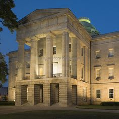 The North Carolina Capitol Building in Raleigh, completed in 1840, is one of the finest and best-preserved examples of a major civic building in the Greek Revival style of architecture. It is a National Historic Landmark.