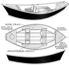 Glen-L Marine Driftboat Plan Draawing from http://www.glen-l.com/