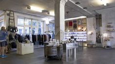 The Voo concept store brings sleek fashions to an area usually associated with punkier looks. The expansive space, discreetly hidden in a courtyard off Kreuzber Berlin, Cool Stuff, Tango, Shopping, Retail, Home Decor, Fashion, Cool Things, Homemade Home Decor