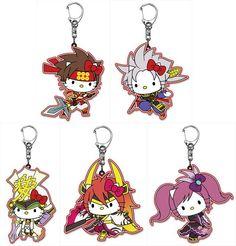 [Toy] 7-Sengoku Musou 4 x HELLO KITTY acrylic key ring Sanada Masayuki village / Nobuyuki Sanada / direct River, Cascade and Ishida Mitsunari / Garcia