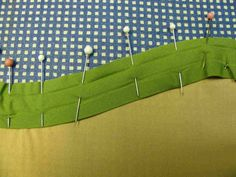 Bias Tape as Facing, shown for armholes and hems, and curves