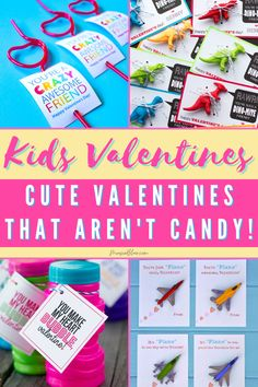 Are you looking for valentines day cards for your kids to give to their classmates but don't want to add to the loads of candy they will already be getting? Take a look at these great non-candy valentine card diy options to inspire you! Kids Activities At Home, Printable Activities For Kids, Valentines Day Activities, Valentines For Kids, Valentine Day Crafts, Valentine's Cards For Kids, Gifts For Kids, Valentine's Day Printables, Holidays With Kids