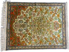 Tapis Ghoum Soie - 72 x 57cm - Iran - 100% soie naturelle - 1215€ - WWW.TAPISDORIENT.NET©