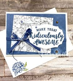 Make Today Ridiculously Awesome - Stamping Bees Living In New Zealand, Team Page, Peonies Garden, Basic Grey, Centre Pieces, White Ink, Embossing Folder, Card Stock, Stampin Up