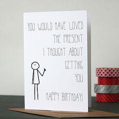 Bob: Birthday Present Card