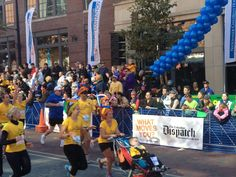 One of the most touching moments of the marathon! Becki Harr pushed 6-year-old Nationwide Children's Hospital patient, Brett, across the finish line. Not a dry eye in the house!