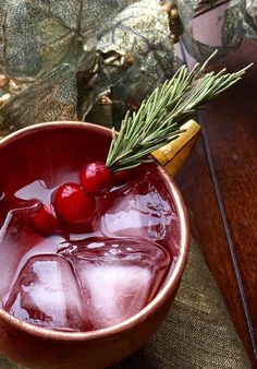 Here is one of the Best Holiday Cocktails, try this Cranberry Moscow Mule recipe - perfect for a holiday party.