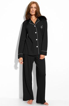 Lauren by Ralph Lauren Sleepwear Knit Pyjamas. I could live in the house in these, all. day. long....