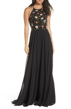 0a61228d1ed67 Free shipping and returns on Jenny Yoo Sophie Embroidered Luxe Chiffon Gown  at Nordstrom.com