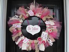 Valentine's Day wreath.