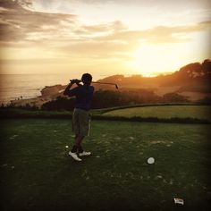 """Thank you for sharing your favorite #pelicanhill #memory with us, John! """"John Henson III posing before his birdie putt on the par 3.  Awesome father/son golf outing."""""""