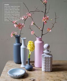 Paint ugly vases...and they become stylish