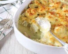 Gratin de chou-fleur à la béchamel allégée : http://www.fourchette-et-bikini.fr/recettes/recettes-minceur/gratin-de-chou-fleur-a-la-bechamel-allegee.html