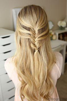 mermaid-fishtail-braid-hairstyle