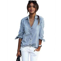 Women Striped T Shirt, Misaky Long Sleeve Loose Blouse Casual Tops ** Quickly view this special  product, click the image : Evening dresses