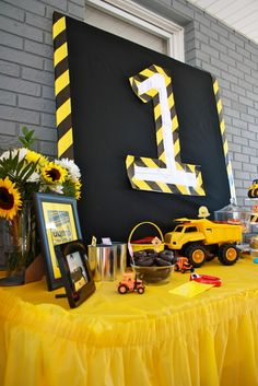 "Photo 4 of 65: Construction / Birthday ""David's 1st Birthday"" 