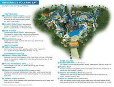 Map of Universal's Volcano Bay