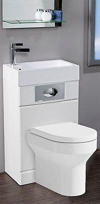 Space Saving Bathroom linton space saving bathroom white combination toilet wc & basin