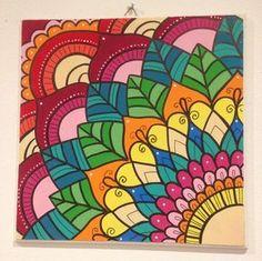 Cuadros Mandalas De Madera, Pintados A Mano. Super Coloridos - $ 260,00 en Mercado Libre Mandala Art Lesson, Mandala Drawing, Mandala Painting, Diy Canvas, Canvas Art, Art Doodle, Design Mandala, Mandala Canvas, Art Drawings For Kids