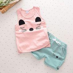 Adorable Animal Printed Tank   Shorts for Baby Kids Boys 66897f337921