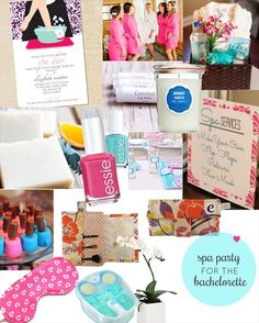 Bachelorette Spa Party Ideas via EmmalineBride.com